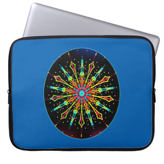 Electric light mandala laptop sleeve