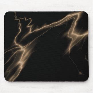 ELECTRIC LIGHTNING BLACK SEPIA MOUSE PAD