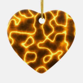 Electric lightning ceramic ornament