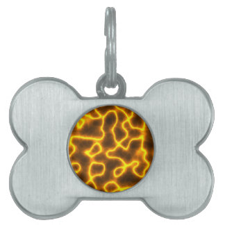 Electric lightning pet ID tag