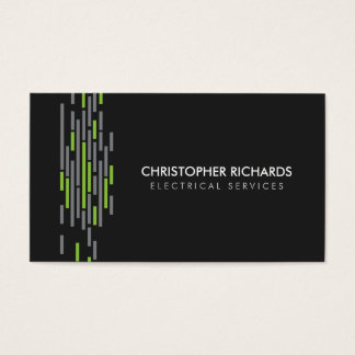 Electric Lights Green Electrician Business Card