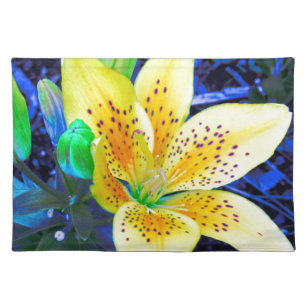 Electric Lily in Blue Placemat