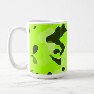 Electric Lime Camo; Camouflage Coffee Mugs
