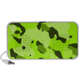 Electric Lime Camo; Camouflage Travel Speaker