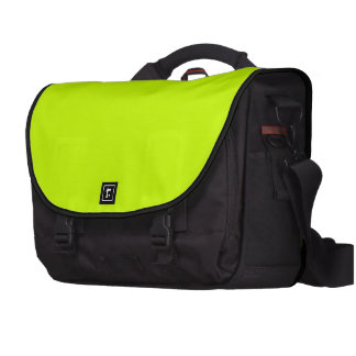 Electric Lime Green and Black Premium Laptop Bag