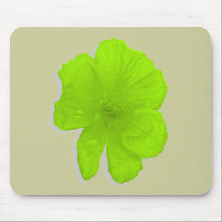 Electric Lime/ PopArt Flower Mouse Pad
