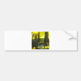 Electric Lime Yellow Abstract Low Polygon Backgrou Bumper Sticker