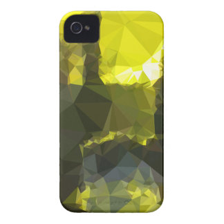 Electric Lime Yellow Abstract Low Polygon Backgrou Case-Mate iPhone 4 Cases