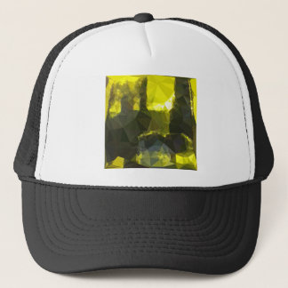 Electric Lime Yellow Abstract Low Polygon Backgrou Trucker Hat
