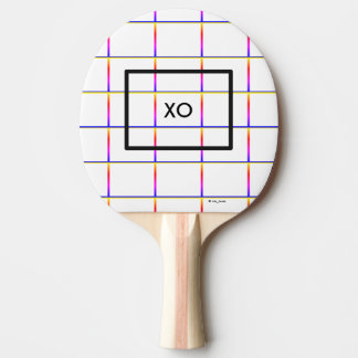 Electric Love Gridlock Plaid Ping Pong Paddle