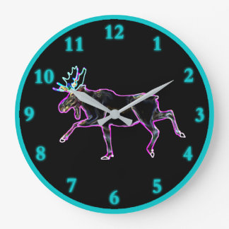Electric Moose Large Clock
