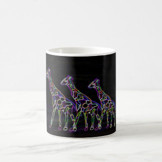 Electric Neon Giraffes Basic White Mug