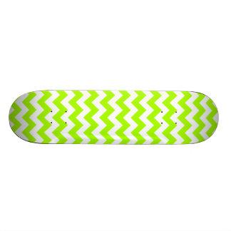Electric Neon Lime Green Chevron Skateboard Decks