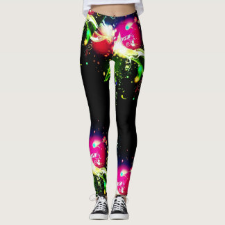 electric neon storm womens leggings