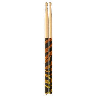 Electric Neon Tiger Custom Drumsticks Drumsticks