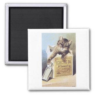 Electric Oil Cat Fridge Magnet