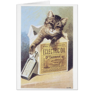 Electric Oil Cat Greeting Card