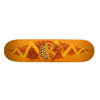Electric Orange - PUNK 18.4 Cm Mini Skateboard Deck