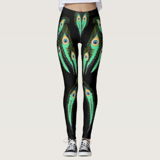 Electric Peacock Fantasy Leggings