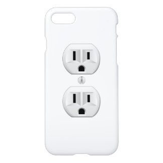 Electric Plug Wall Outlet Fun Color iPhone 7 Case