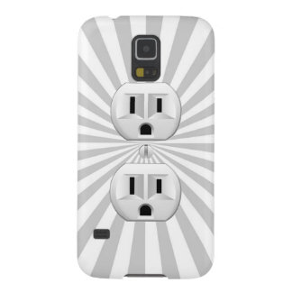 Electric Plug Wall Outlet Fun Customize This! Galaxy S5 Covers