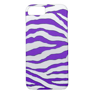Electric Purple Glitter Zebra iPhone 7 Case