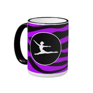 Electric Purple Zebra Stripes; Ballet Ringer Mug