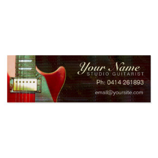 Electric Red Guitar mini business card