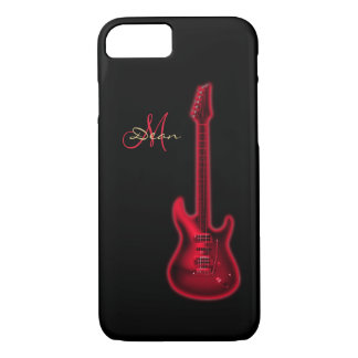 Electric Red Guitar Personalized iPhone 7 Case