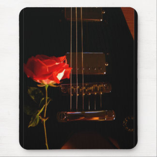 electric rose mouse pad