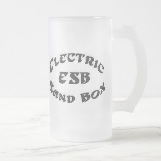 "ELECTRIC SANDBOX ""FROSTED MUG"" FROSTED GLASS BEER MUG"