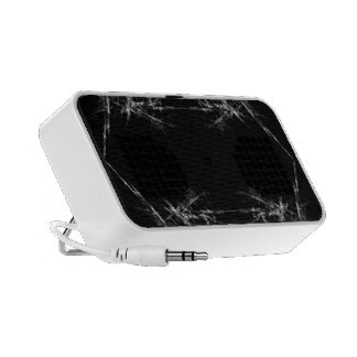 Electric Scratch. Black, White Fractal Art. Portable Speakers