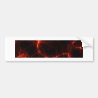 Electric Shock in Crimson Bumper Sticker