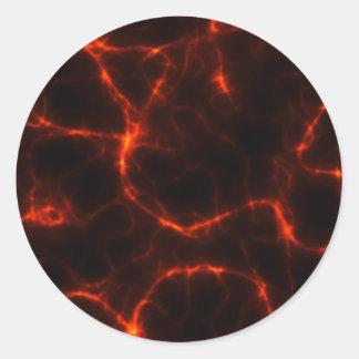 Electric Shock in Crimson Round Sticker
