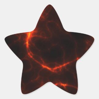 Electric Shock in Crimson Star Sticker