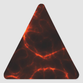 Electric Shock in Crimson Triangle Sticker