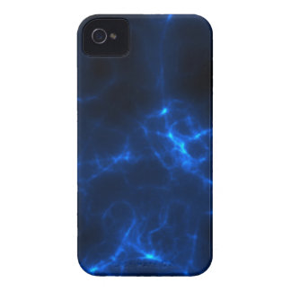 Electric Shock in Dark Blue iPhone 4 Covers