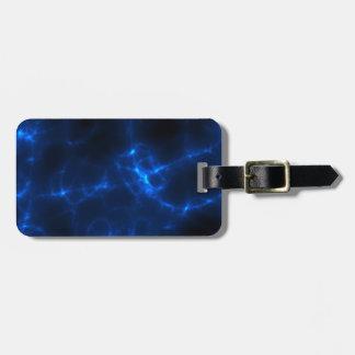 Electric Shock in Dark Blue Luggage Tag