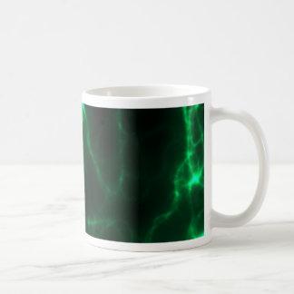 Electric Shock in Dark Green Coffee Mug