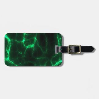 Electric Shock in Dark Green Luggage Tag