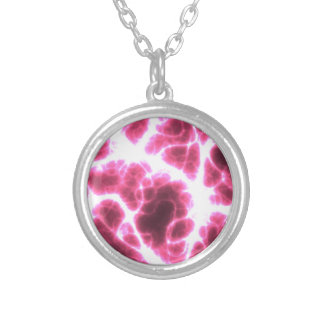 Electric Shock in Pink Silver Plated Necklace