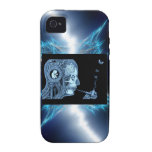 Electric Skeleton Smoker Case For The iPhone 4
