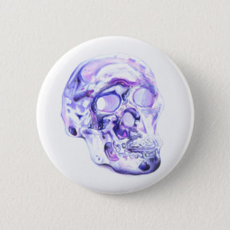 Electric Skull 6 Cm Round Badge