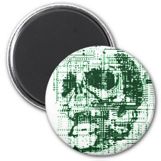 Electric Skull 6 Cm Round Magnet