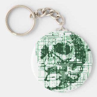 Electric Skull Key Ring