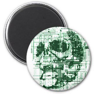 Electric Skull Refrigerator Magnet