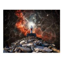 Electric Space Lights Postcard