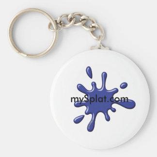 Electric Speedball Paintball - mySplat.com Basic Round Button Key Ring