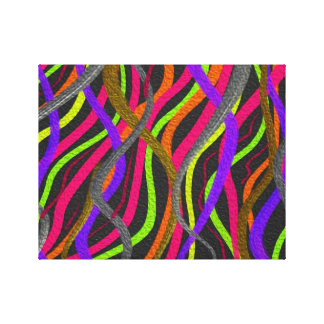Electric Squiggles Digital Art Canvas Print