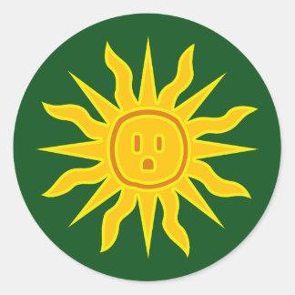 Electric Sun Classic Round Sticker